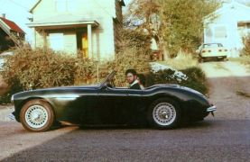 David Dickinson in his 1960 Austin Healey